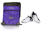 Mens Dexter Ricky III Bowling Shoes White & Drawstring Backpack Sizes 8-11 1/2