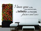 Wall Stickers Vinyl Decal Decor Love Infinity Moon Sign Word Words Phrase $24.99 USD on eBay