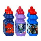 2 x Character Sports Bottles Spider-Man, Avengers Assemble or Paw Patrol Sets.