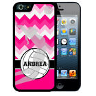 PERSONALIZED RUBBER CASE FOR iPHONE X 8 7 6S SE 5C 5S PLUS CHEVRON VOLLEYBALL