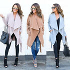 US 2018 Fashion WomenLong Coat Jacket Trench Windbreaker Parka Outwear Cardigan