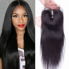 """Brazilian Straight Human Hair  5X5"""" Lace Front Closure With Baby Hair 8-20inch"""