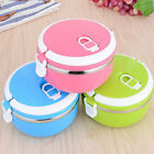 Stainless Steel Thermos Bento Lunch Box For Kids Food Container Round Shape