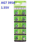 10X Batteries AG7 L927 LR57 395A SR57 Coin Button Cell Battery Watch camera ♫