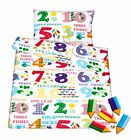 Baby toddler crib cot cot bed new set duvet cover pillowcase 100% cotton NUMBERS