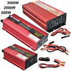 Portable Car LED Power Inverter 2000W WATT DC 12V to AC 110V Charger Converter