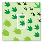 2 X Dinosaur Feet - Uk Light Switch Stickers, Living Room Bedroom Nursery Decor