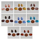 4 Irregular Czech Glass Beads in a Variety of Colours size 18x12x8.5mm