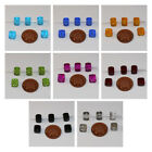 12 Cube Shaped Czech Glass Beads in a Variety of Colours size 9x8mm