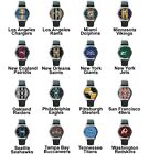 Pro Football Superbowl Variety Team Logo Unisex Analog Leather Wrist Watch Set 2 $16.99 USD on eBay