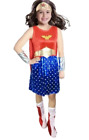 Girls Wonder Woman Complete Costume Sizes to fit ages 5 to 9 Years Super Hero
