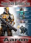 Personalised Destiny Game Inspired Birthday / Greeting Cards  (various designs)