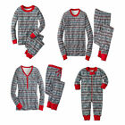 Family Matching Pajamas Sets Snowflake Print Christmas Sleepwear for Mum Dad Kid