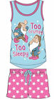 Offcial Ladies Disney Too Grumpy Too Sleepy Seven Dwarfs Shortie Pyjamas