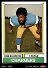 1974 Topps #416 Russ Washington Chargers EX $0.99 USD