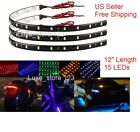 "Lot 15led Flexible Strip Underbody Light 12"" Waterproof Motorcycle Car Boat 12v"