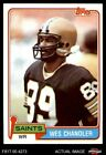 1981 Topps #428 Wes Chandler Saints NM/MT $1.9 USD on eBay