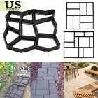 DIY Driveway Path Maker Pavement Mold Garden Stone Road Paving Concrete Mould