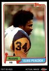 1981 Topps #514 Elvis Peacock Rams NM/MT