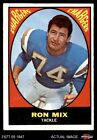 1967 Topps #125 Ron Mix Chargers EX $7.25 USD