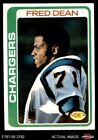 1978 Topps #217 Fred Dean Chargers EX $4.75 USD