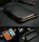 Real Genuine Leather Flip Wallet Slim Case Cover For Sony Xperia Z5 M5 XA1 XZ1