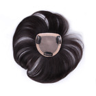 Mono Closure Human Hair Clip in Hair Topper Piece Toupee Replacement For Women