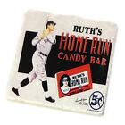Babe Ruth's Home Run Candy Bar Tumbled Tile Beverage Coasters - Set of Four