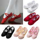Child Kids Girl Soft Anti-slip Ballet Pointe Dance Shoes Canvas Gymnastics Shoes