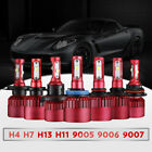 H4 H7 H11 H13 9005 9006 9007 1280W 192000LM LED headlight kit fog light Hi/lo $39.99 USD on eBay
