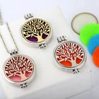 Hollow out Life Tree Circle Open Aromatherapy Noctilucent Pendant Necklace NG