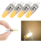 4x 10x Mini G4 1.2W 2W  LED Light Bulb COB Corn Light AC DC 12V Warm White