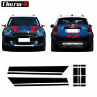 Hood Stripes Rear Graphics Decal Stickers For Mini Cooper Countryman F60 2017