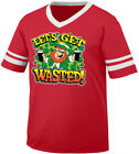Let's Get Wasted Leprechaun Irish St Patrick's Day Pint Men's V-Neck Ringer Tee