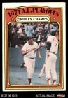 1972 Topps 222 Brooks Robinson Mark Belanger 1971 AL Playoffs Orioles VG