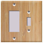 Faux Wood Grain 5 Pattern Texture - Light Switch Covers Home Decor Outlet
