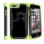 "For Apple iPhone 8 Plus (5.5"") 2017 Shockproof Clip Stand Green Case"