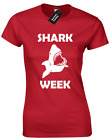 SHARK WEEK LADIES T SHIRT FUNNY STEP BROTHERS DESIGN COMEDY FERRELL JOKE WILL