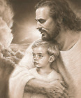Forever Jesus Christ & Boy Print Picture by David Bowman Religious Spiritual Art