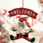 Christmas Party Welcome Plush Doll Santa Claus Door Decoration Children Gifts