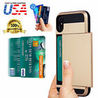 Shockproof Wallet Credit Card Holder Case Cover Fits Apple iPhone X/8/7/6s/Plus