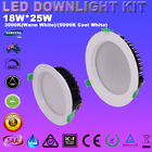 6X 18W 25W LED Downlight Kits Dimmable Recessed Down Light 120mm/ 160mm Cutout