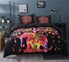 Indian Elephant Duvet Cover Tie Dye Quilt Comforter Cover Bohemian Bedding Set