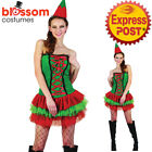 CSW51 Ladies Elf Santa Helper Christmas Xmas Fancy Dress Up Costume Hat Outfit