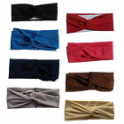 Women Headbands Turban Solid Color Twisted Hair Wrap Yoga Sports Hair band