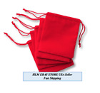 Small Red Velvet Jewelry Gift Gold Silver Gift Favors Party String Bag Pouch