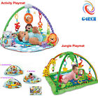 G4RCE Tropical Jungle Baby Gym Crawl & Play Soft Activity Musical Lullaby Mat UK