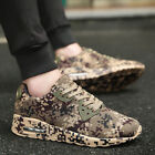 Casual Athletic Shoes Hot Men Camoufale Flat Heel Hiking Trainers Sport Lace Up