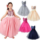 Flower Baby Girls Sequined Wedding Gown Formal Party Princess Bridesmaid Dress