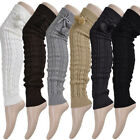 Women Winter Warmers Knee Leg High Thigh High Tie Cable Knitted Long Boot Socks